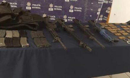 Captura Seguridad Pública a cuatro presuntos integrantes del CJNG, en La Perla