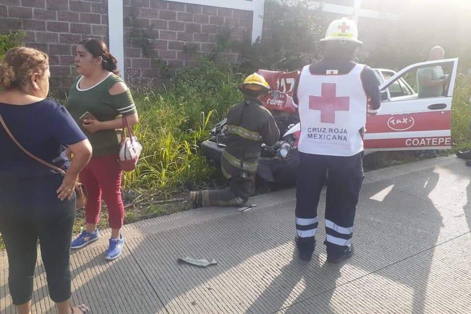 Fuerte accidente en el libramiento Xalapa – Coatepec, a la altura de El Grande