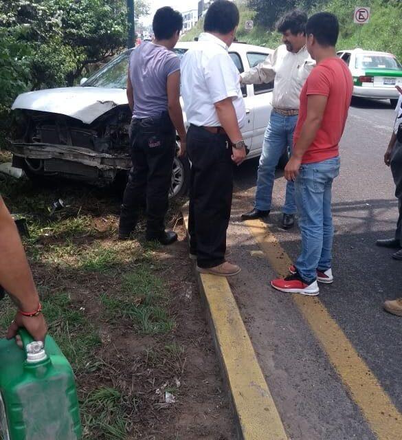 Accidente en la carretera Xalapa – Veracruz, a la altura de Las Trancas