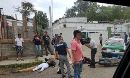 Dos personas heridas en accidente sobre la avenida Rebsamen en Xalapa