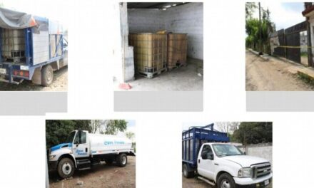 Aseguran bodega con autos presuntamente robados en Tihuatlán, Veracruz