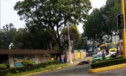 Motociclista lesionado en la avenida Ávila Camacho esquina avenida Xalapa