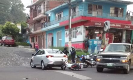 Motociclista lesionado en la avenida Villa Hermosa, esquina con Nuevo León