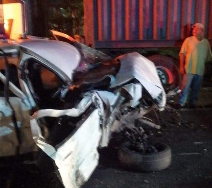 Aparatoso accidente en autopista Veracruz-Cardel