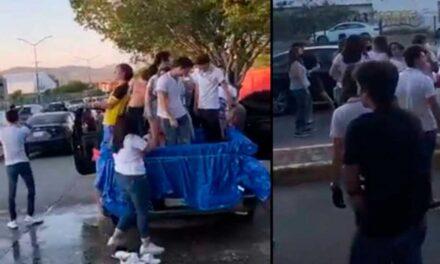 Reprocha alcalde de León a padres de los alumnos del Instituto Lux por permitir que celebraran el fin de cursos