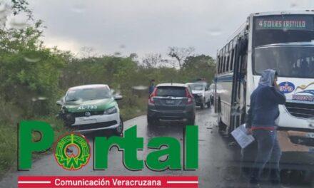 Accidente de tránsito sobre la carretera Xalapa – Alto Lucero