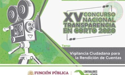 SFP invita a jóvenes al XV Concurso Nacional Transparencia En Corto 2020