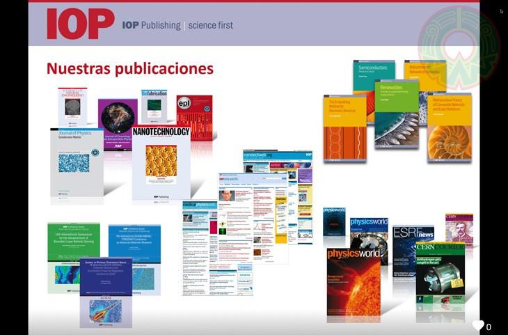 IOPscience brinda acceso a más de 90 publicaciones científicas