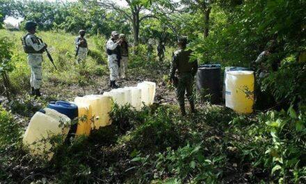 SEMAR, aseguró una toma clandestina de hidrocarburo en la carretera Tuxpan-Cazones