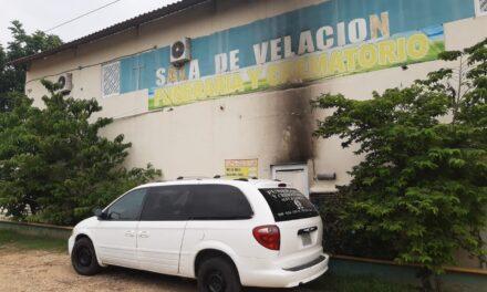 Lanzan artefacto explosivo a un crematorio de Oluta