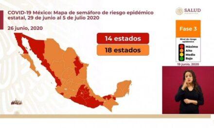 Hoy Xalapa 16 nuevos casos y 4 defunciones de Covid, semáforo naranja la próxima semana en Veracruz.