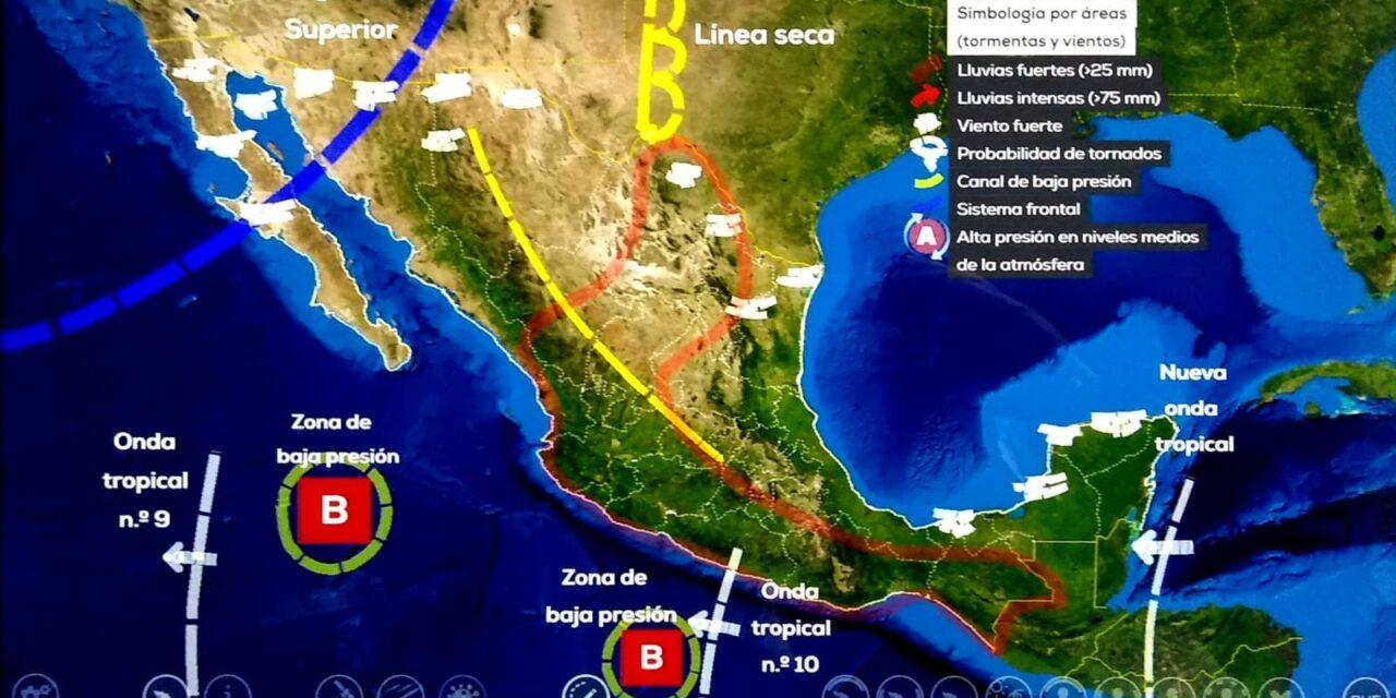 Onda tropical 10 generará lluvias en 3 estados; CDMX con posible granizada