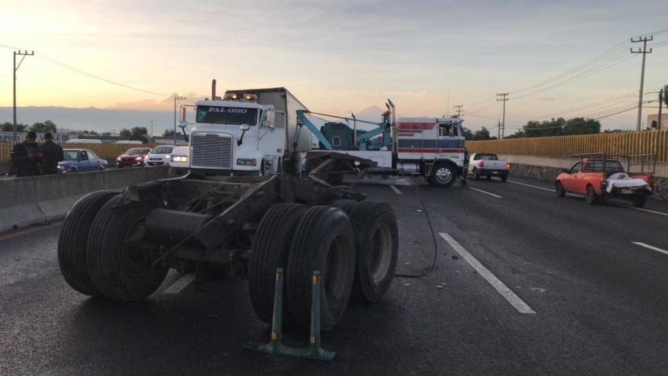 Caos vial por Accidente en la carretera México-Puebla