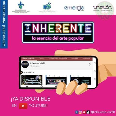 """Alumnos de FCAS organizaron el evento virtual """"Inherente: la esencia del arte popular"""""""