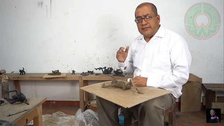 Carlomagno Martínez, director del MEAPO, dijo que se debe educar a los jóvenes en cuanto al arte popular