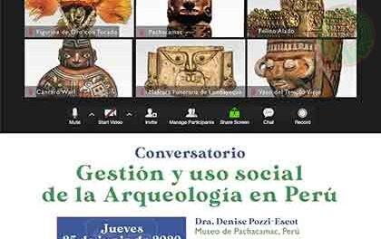 Webinario Internacional de Arqueología dedicará sesión a Perú