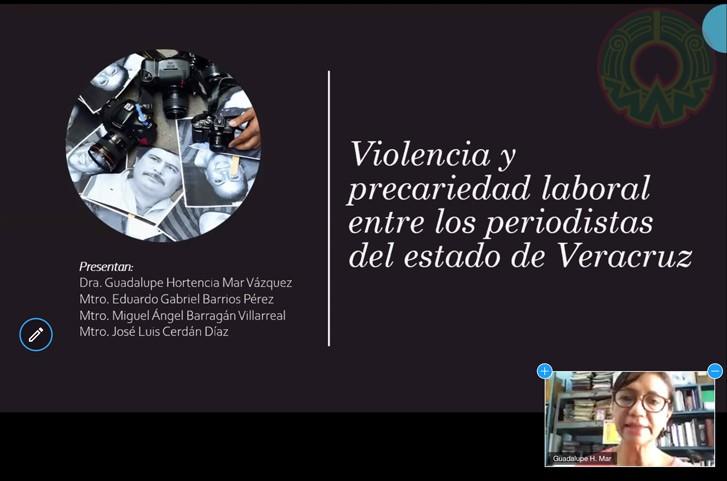 Guadalupe Mar presentó un trabajo sobre las condiciones de violencia contra periodistas veracruzanos