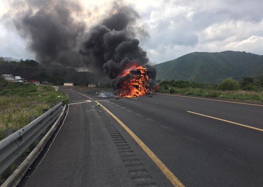 Acidente en autopista Puebla-Córdoba; hay cierre vial