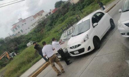 Motociclista lesionado en esquina del Autozone y Choque en Lázaro Cárdenas a la altura del Hotel Leo