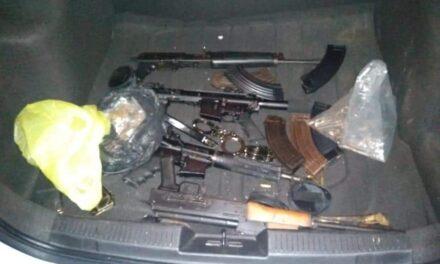 Aprehende SSP a 7 personas con drogas y armas en Perote, Martínez de la Torre y Poza Rica