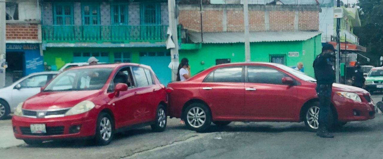 Accidente de tránsito sobre la carretera antigua a Coatepec