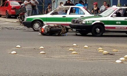 Accidente en la avenida Ruiz Cortines esquina Prolongación Villahermosa en Xalapa