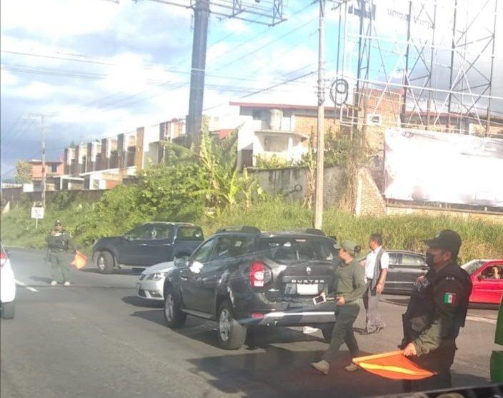 Accidente de tránsito en la carretera Xalapa-Veracruz, a la altura de Las Trancas