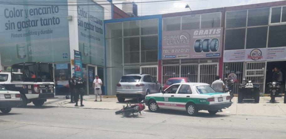 Accidente de tránsito sobre la avenida Antonio Chedraui Caram, a la altura de Comex