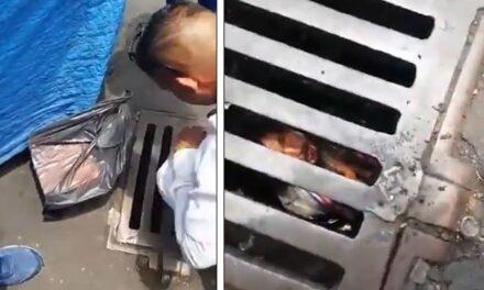 Video: Hallan a hombre atrapado en coladera tras sismo en CDMX