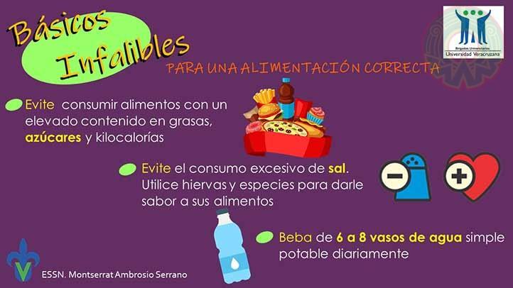 Material informativo elaborado por Monserrat Ambrosio, de la carrera de Nutrición región Veracruz