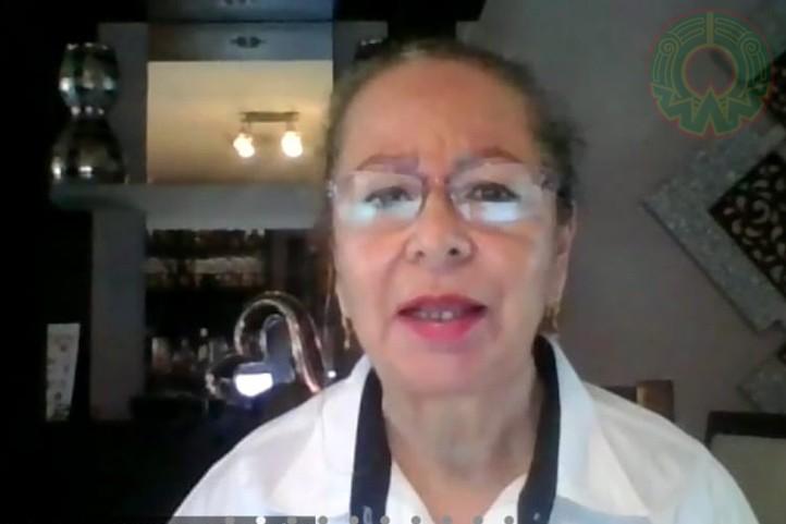 María Guadalupe Aguirre Alemán durante su ponencia