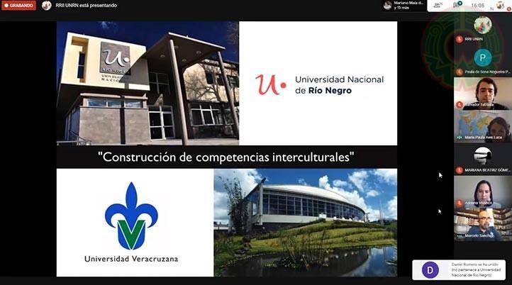 El webinario fue organizado por la Universidad Nacional de Río Negro de Argentina y la Universidad Veracruzana