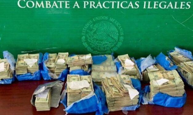 Aduanas decomisa más de 375 mil dólares en Matamoros, Tamaulipas