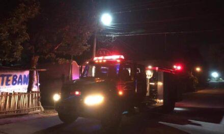 Durante la madrugada se incendió una casa en la carretera a Xico, en el crucero de San Marcos