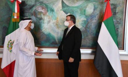 Expresa SRE agradecimiento a Emiratos Árabes por su apoyo para hacer frente al COVID-19