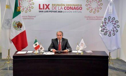 Gobernador de SLP asume presidencia de la Conago