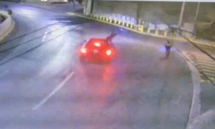 Video Conductor de camioneta atropella y mata a ciclista en Nuevo León