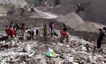 Derrumbe de mina de arena deja a un trabajador sin vida en Texcoco