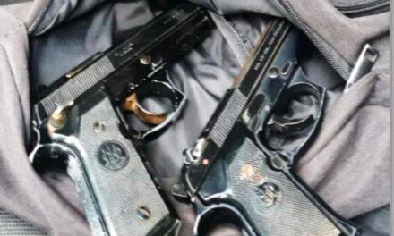 Detiene SSP a dos por presunta extorsión y portación de armas, en Xalapa