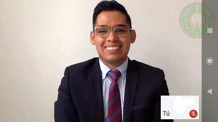 José Carlos Alarcón Moreno presentó su examen de grado en la modalidad virtual