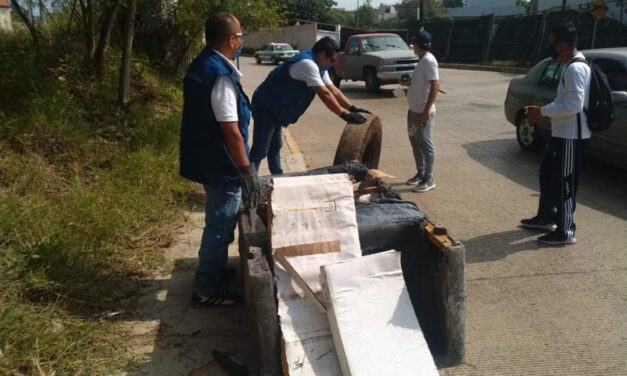 Realizan jornada de descacharrización en la Colonia Santa Barbara de Xalapa