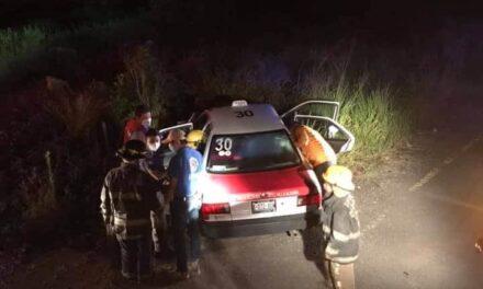 Accidente en el libramiento de Coatepec, a la altura de El Grande
