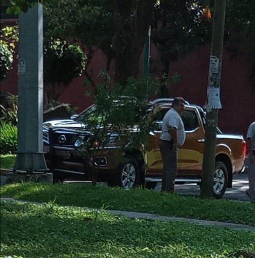 Choque sobre la avenida Orizaba esquina Paseo de las Palmas