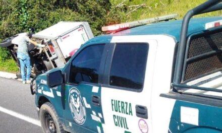 Accidente en la carretera Perote – Xalapa.