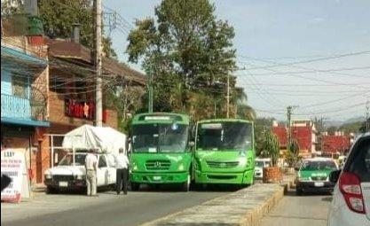 Accidente de tránsito sobre la avenida Rebsamen en Xalapa