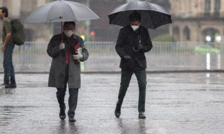 Lluvias intensas en gran parte del país, descargas eléctricas, vientos fuertes y granizadas.