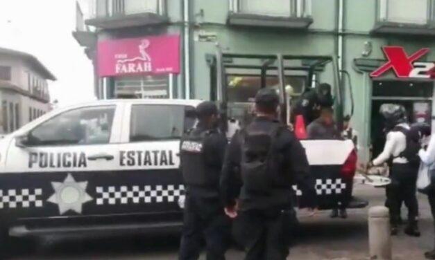 Detienen a sujeto con droga en el centro de Xalapa