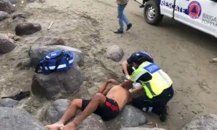 Andaba tomado y cayó de 4 metros de altura en las playas de Boca del Río