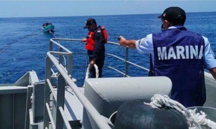 Semar rescata a nueve tripulantes de dos embarcaciones en Quintana Roo