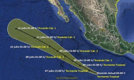 La tormenta tropical Cristina podría convertirse en huracán de categoría dos